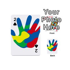 Creativity Painted Hand Copy Playing Cards 54 (Mini)  by AnjaniArt