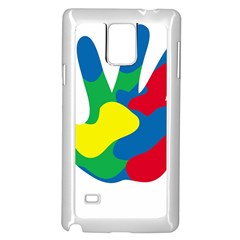 Creativity Painted Hand Copy Samsung Galaxy Note 4 Case (white) by AnjaniArt