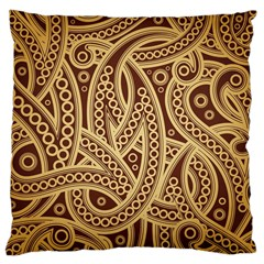European Fine Pattern Large Cushion Case (two Sides) by AnjaniArt