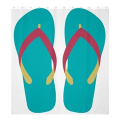 Flip Flop Slippers Copy Shower Curtain 66  X 72  (large)  by AnjaniArt