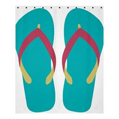 Flip Flop Slippers Copy Shower Curtain 60  X 72  (medium)  by AnjaniArt