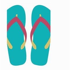 Flip Flop Slippers Copy Small Garden Flag (two Sides) by AnjaniArt