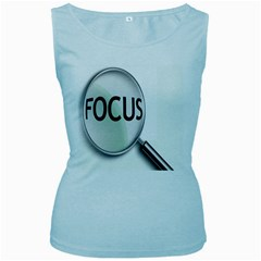 Focus Women s Baby Blue Tank Top by AnjaniArt