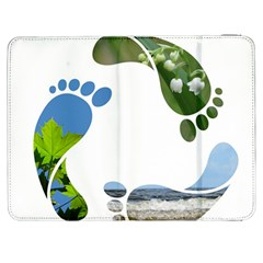 Footprint Recycle Sign Samsung Galaxy Tab 7  P1000 Flip Case by AnjaniArt