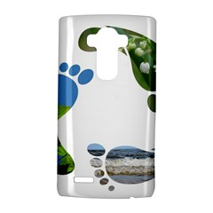 Footprint Recycle Sign Lg G4 Hardshell Case by AnjaniArt