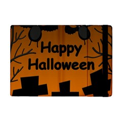 Happy Halloween   Bats On The Cemetery Apple Ipad Mini Flip Case by Valentinaart
