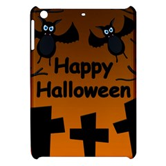 Happy Halloween - bats on the cemetery Apple iPad Mini Hardshell Case by Valentinaart