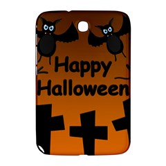 Happy Halloween   Bats On The Cemetery Samsung Galaxy Note 8 0 N5100 Hardshell Case  by Valentinaart