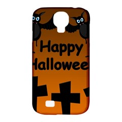 Happy Halloween   Bats On The Cemetery Samsung Galaxy S4 Classic Hardshell Case (pc+silicone) by Valentinaart