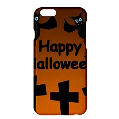 Happy Halloween   Bats On The Cemetery Apple Iphone 6 Plus/6s Plus Hardshell Case by Valentinaart