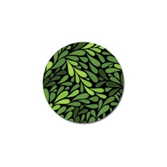 Free Green Nature Leaves Seamless Golf Ball Marker by AnjaniArt