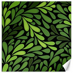 Free Green Nature Leaves Seamless Canvas 12  X 12   by AnjaniArt