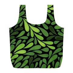 Free Green Nature Leaves Seamless Full Print Recycle Bags (l)  by AnjaniArt