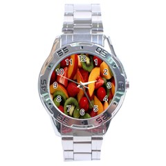 Fruit Salad Stainless Steel Analogue Watch by AnjaniArt