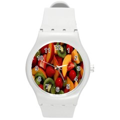 Fruit Salad Round Plastic Sport Watch (m) by AnjaniArt