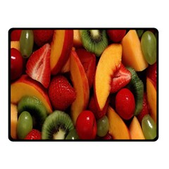 Fruit Salad Double Sided Fleece Blanket (small)  by AnjaniArt