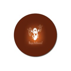 Funny Halloween Magnet 3  (round) by AnjaniArt