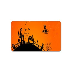 Halloween Day Magnet (name Card) by AnjaniArt