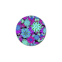 Vibrant Floral Collage Print Golf Ball Marker by dflcprints