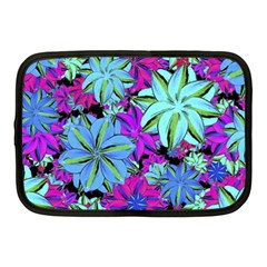 Vibrant Floral Collage Print Netbook Case (medium)  by dflcprints