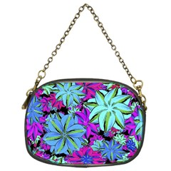 Vibrant Floral Collage Print Chain Purses (two Sides)  by dflcprints
