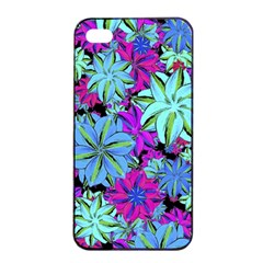 Vibrant Floral Collage Print Apple Iphone 4/4s Seamless Case (black) by dflcprints