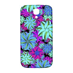 Vibrant Floral Collage Print Samsung Galaxy S4 I9500/i9505  Hardshell Back Case by dflcprints