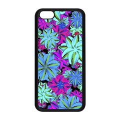 Vibrant Floral Collage Print Apple Iphone 5c Seamless Case (black) by dflcprints