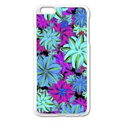 Vibrant Floral Collage Print Apple Iphone 6 Plus/6s Plus Enamel White Case by dflcprints