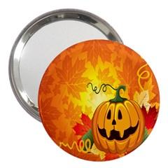 Halloween Pumpkin 3  Handbag Mirrors by AnjaniArt