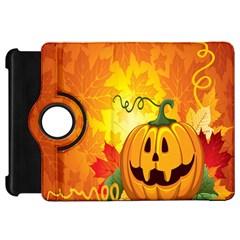 Halloween Pumpkin Kindle Fire Hd Flip 360 Case by AnjaniArt