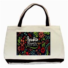 Hawaiian Paradise Fresh Basic Tote Bag (two Sides) by AnjaniArt