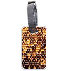 Honey Honeycomb Jpeg Luggage Tags (Two Sides) by AnjaniArt