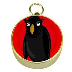 Halloween   Old Raven Gold Compasses by Valentinaart
