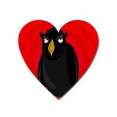 Halloween   Old Raven Heart Magnet by Valentinaart