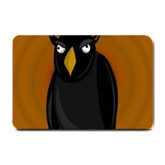 Halloween   Old Black Rawen Small Doormat  by Valentinaart