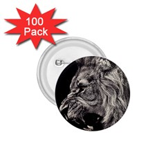 Angry Male Lion 1.75  Buttons (100 pack)  by Zeze