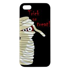 Halloween Mummy   Apple Iphone 5 Premium Hardshell Case by Valentinaart