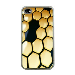 Honeycomb Yellow Rendering Ultra Apple Iphone 4 Case (clear) by AnjaniArt