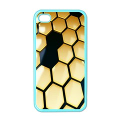 Honeycomb Yellow Rendering Ultra Apple Iphone 4 Case (color) by AnjaniArt