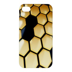 Honeycomb Yellow Rendering Ultra Apple Iphone 4/4s Hardshell Case by AnjaniArt