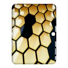 Honeycomb Yellow Rendering Ultra Samsung Galaxy Tab 4 (10 1 ) Hardshell Case  by AnjaniArt