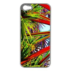 Kostenloses Leaves Apple Iphone 5 Case (silver) by AnjaniArt