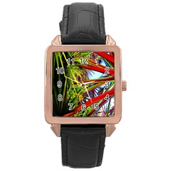 Kostenloses Leaves Rose Gold Leather Watch  by AnjaniArt