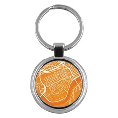 Map Art Key Chains (round)  by AnjaniArt