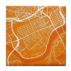 Map Art Face Towel by AnjaniArt
