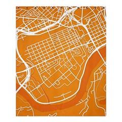 Map Art Shower Curtain 60  X 72  (medium)  by AnjaniArt