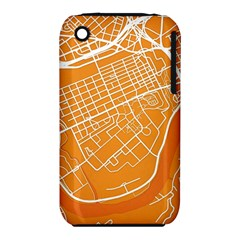 Map Art Apple iPhone 3G/3GS Hardshell Case (PC+Silicone) by AnjaniArt