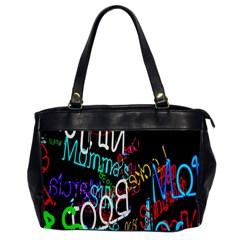 Miami Text Office Handbags by AnjaniArt