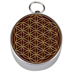 Flower Of Life Silver Compasses by Zeze